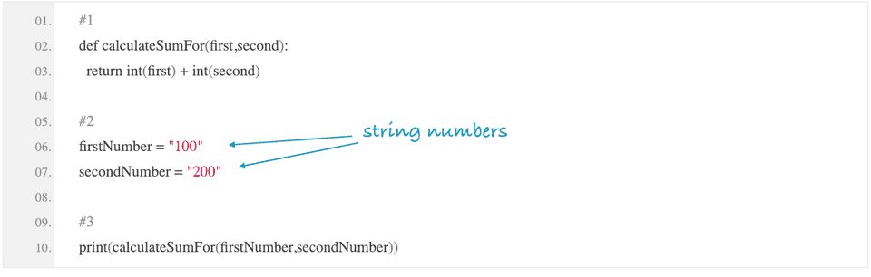 python find sum of string numbers