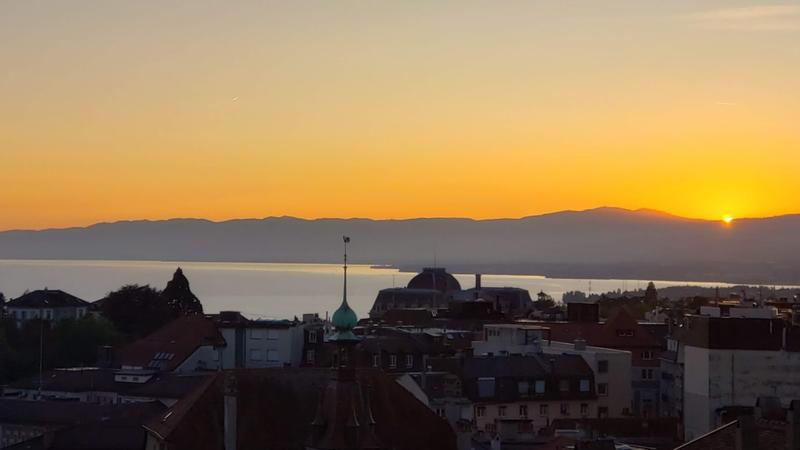 Sunset over Lausanne