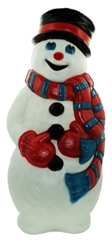 Snowman with Red Scarf photo