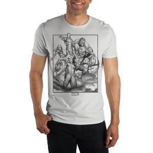 Marvel Avengers Black & White Crew Neck Short Sleeve T-Shirt