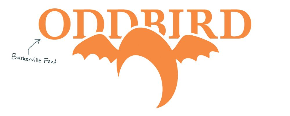 OddBird Logo in Baskerville