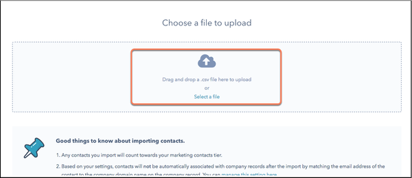 Select the file you want to upload