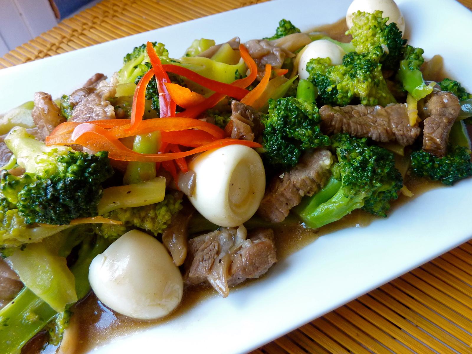 Beef mushroom broccoli