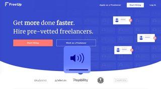 freeup homepage