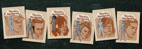 Kit autografado com cards dos personagens!