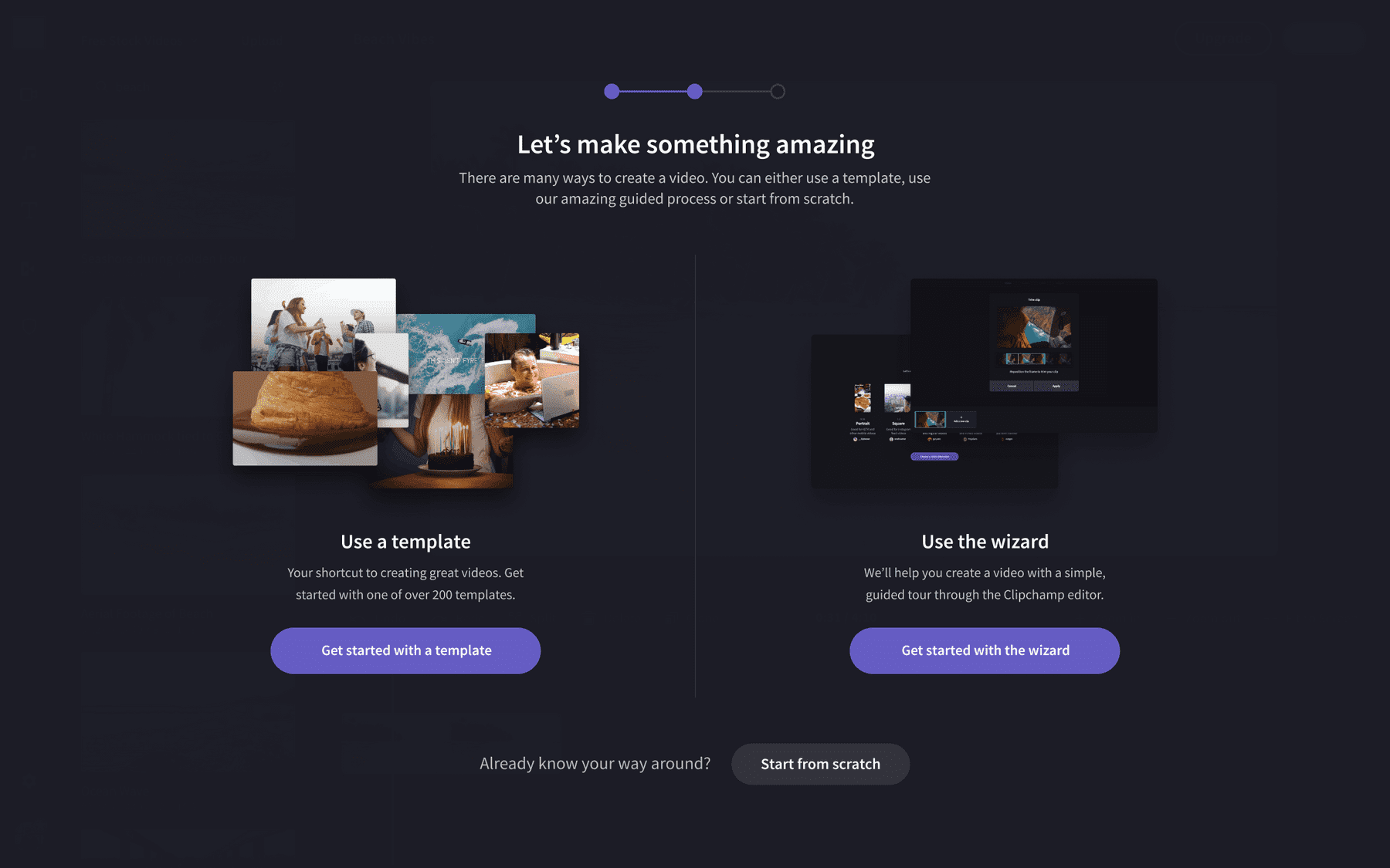Clipchamp Onboarding