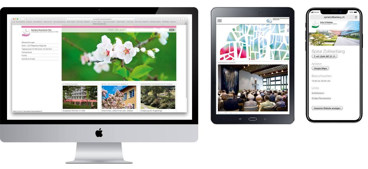 Diakoniwer Neumünster Responsive Design Screenshots