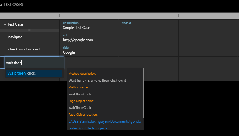 Importing a Action Module