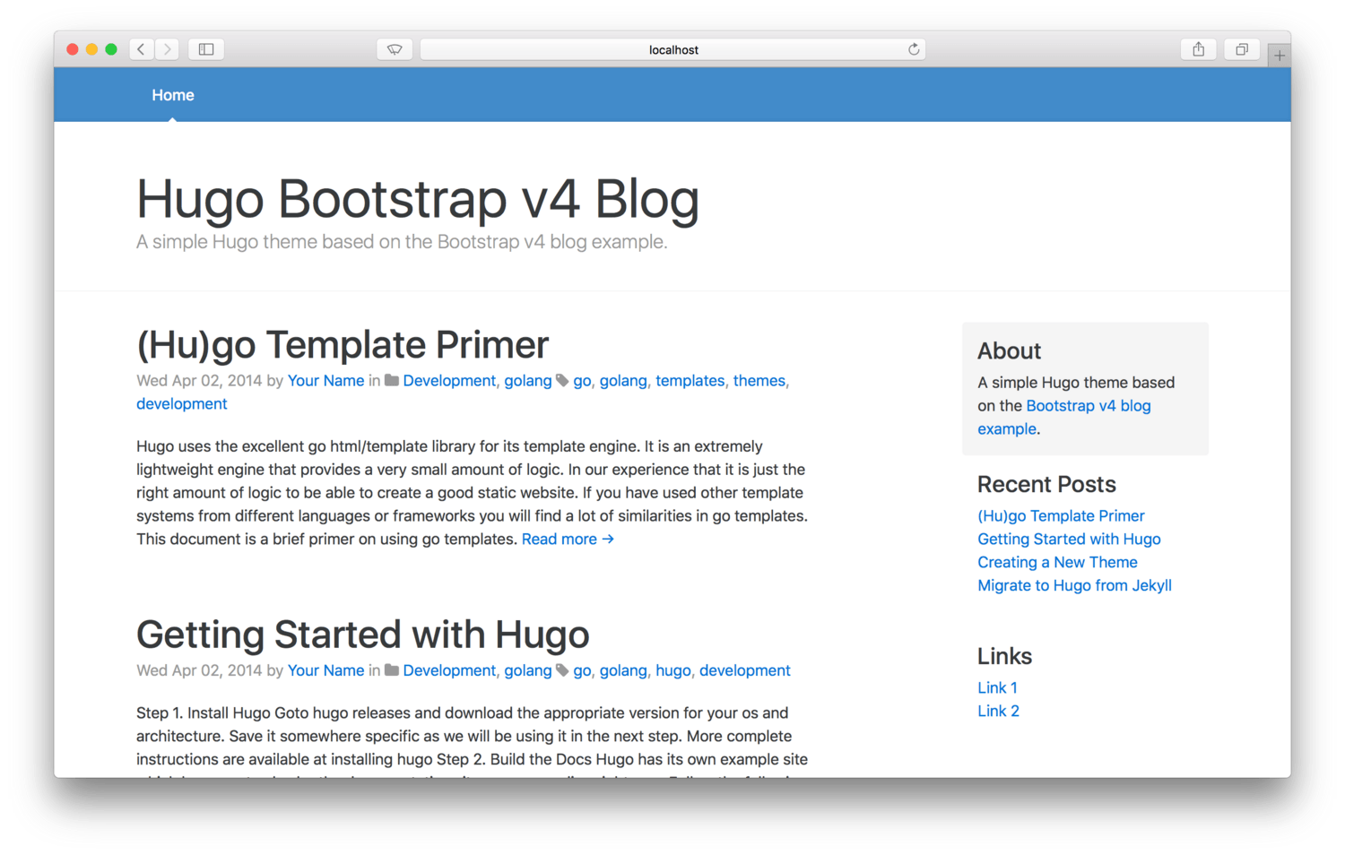 Hugo Theme For Blogs
