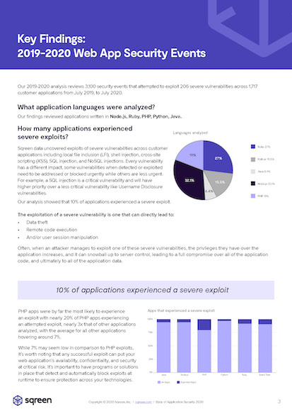 State of application security report 2020 page 1