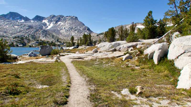 The PCT heads to Marie Lake