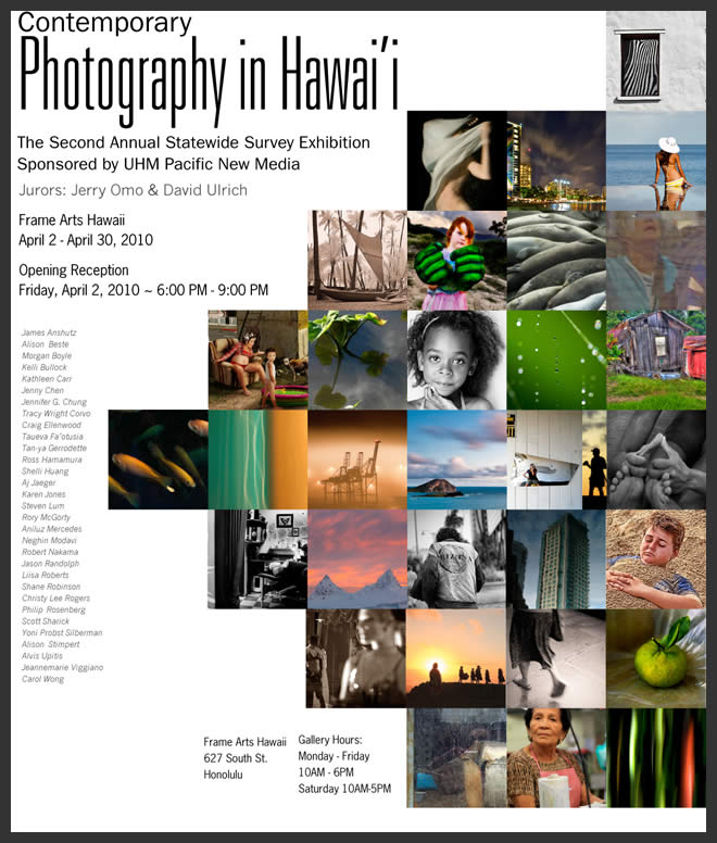 Contemporary Photography in Hawaii 2010 poster
