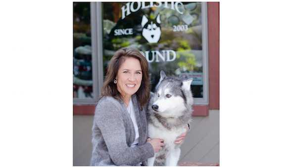 Holistic Hound's Heidi Hill with Pearl