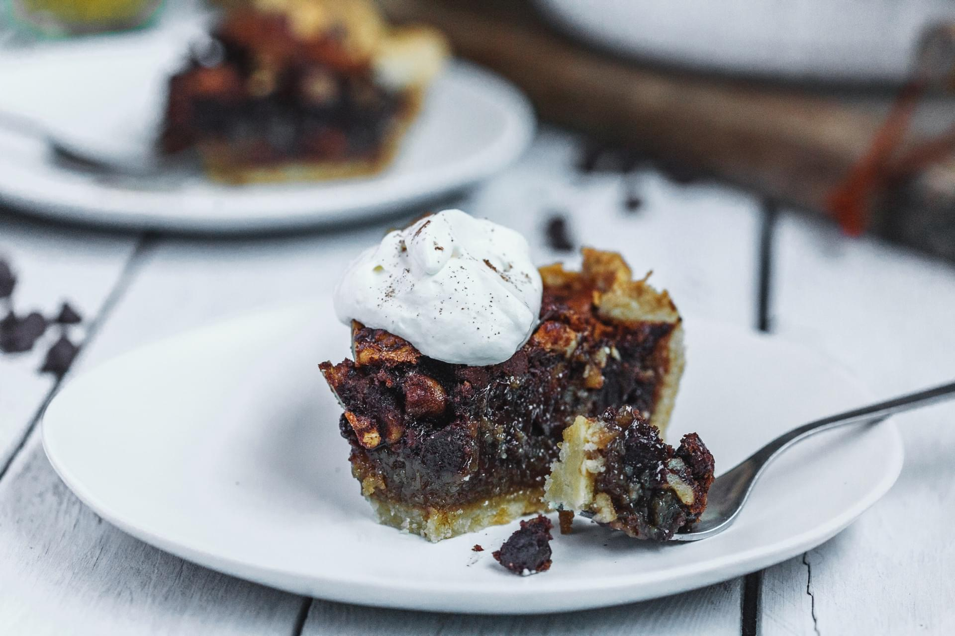 Chocolate Bourbon Walnut Pie