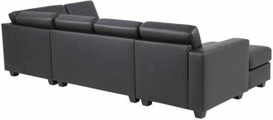 Fyn Wise Hoekbank Uvorm Met Chaise Longue Links Bonded Leather Zwart 9200000084055153_2