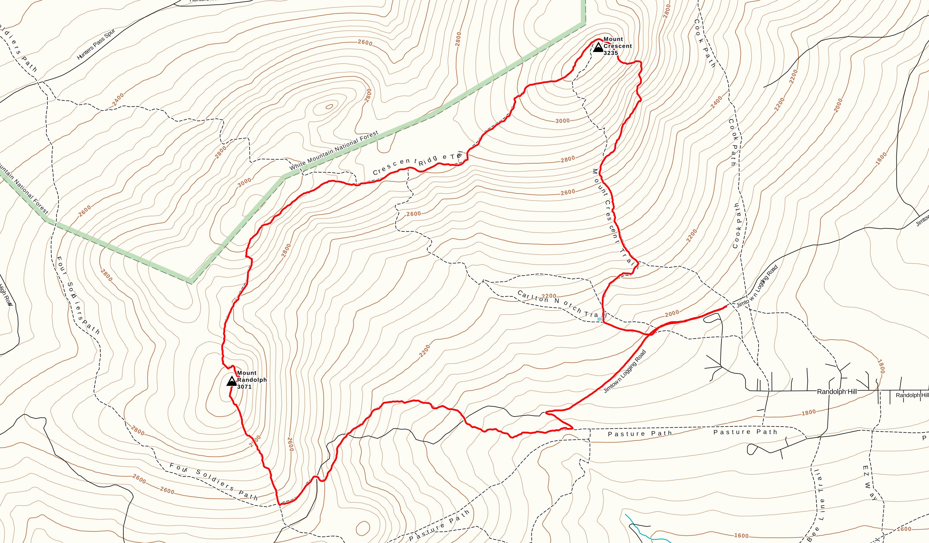 Course topo map
