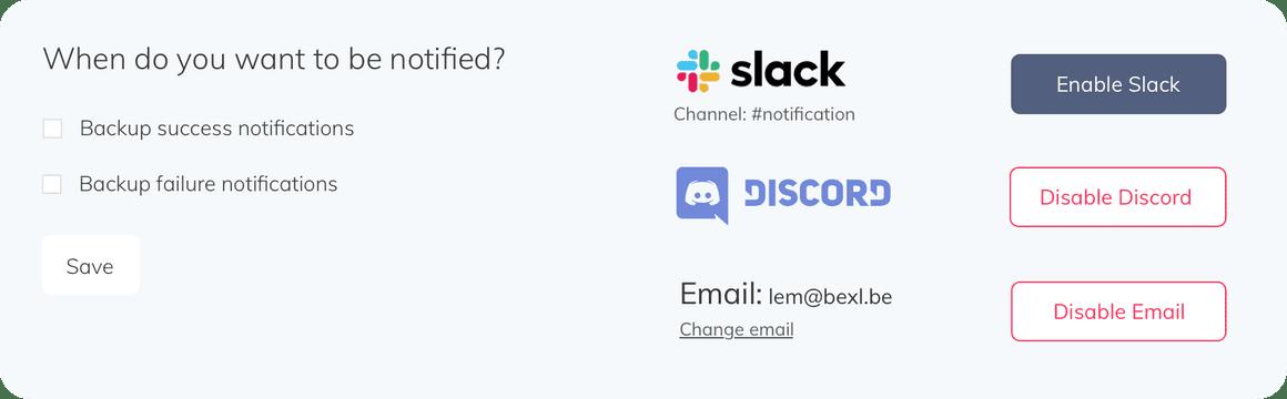 SimpleBackups restore mysql database backup