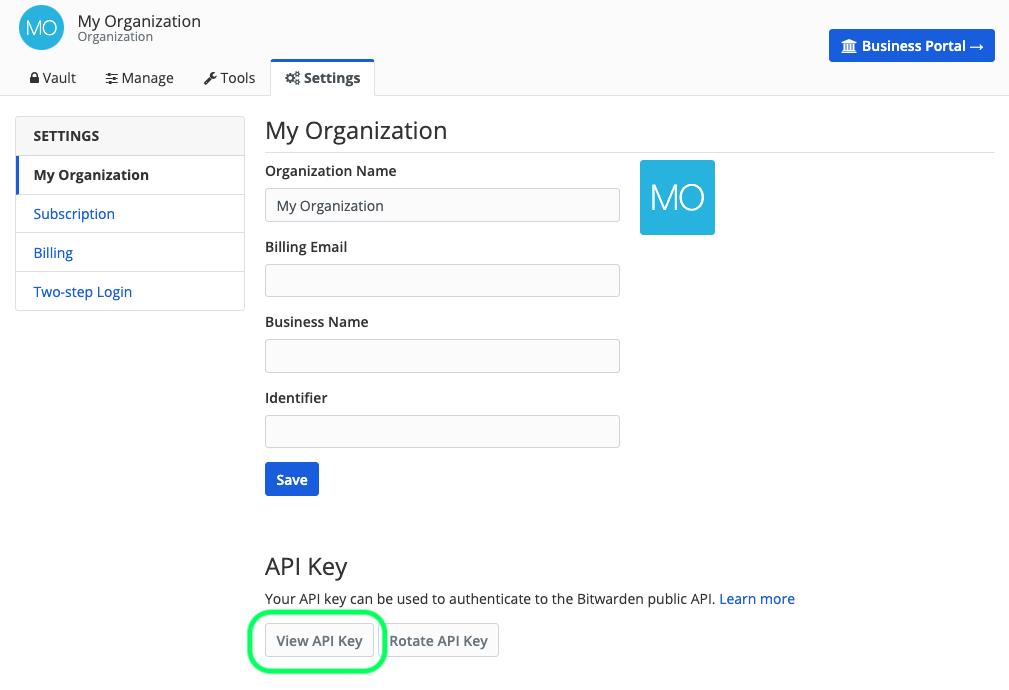 Get Organization API Key