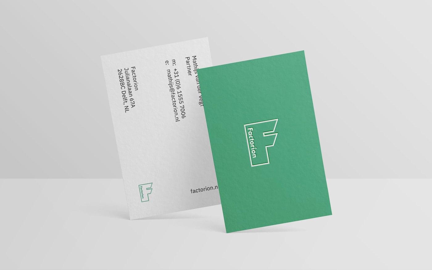 Factorion grid-based business card design
