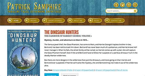 Screenshot of patricksamphire.com