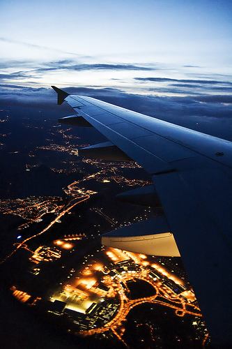 View from an A320 taking off