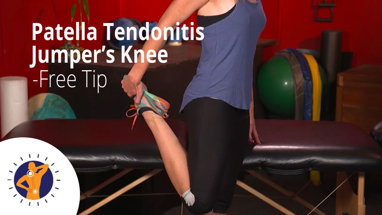 Patella Tendonitis/Jumper's Knee - Free Tip to Alleviate KNEE PAIN