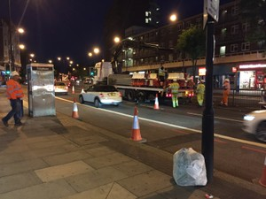 Crane Unloading MASS Barriers Central London