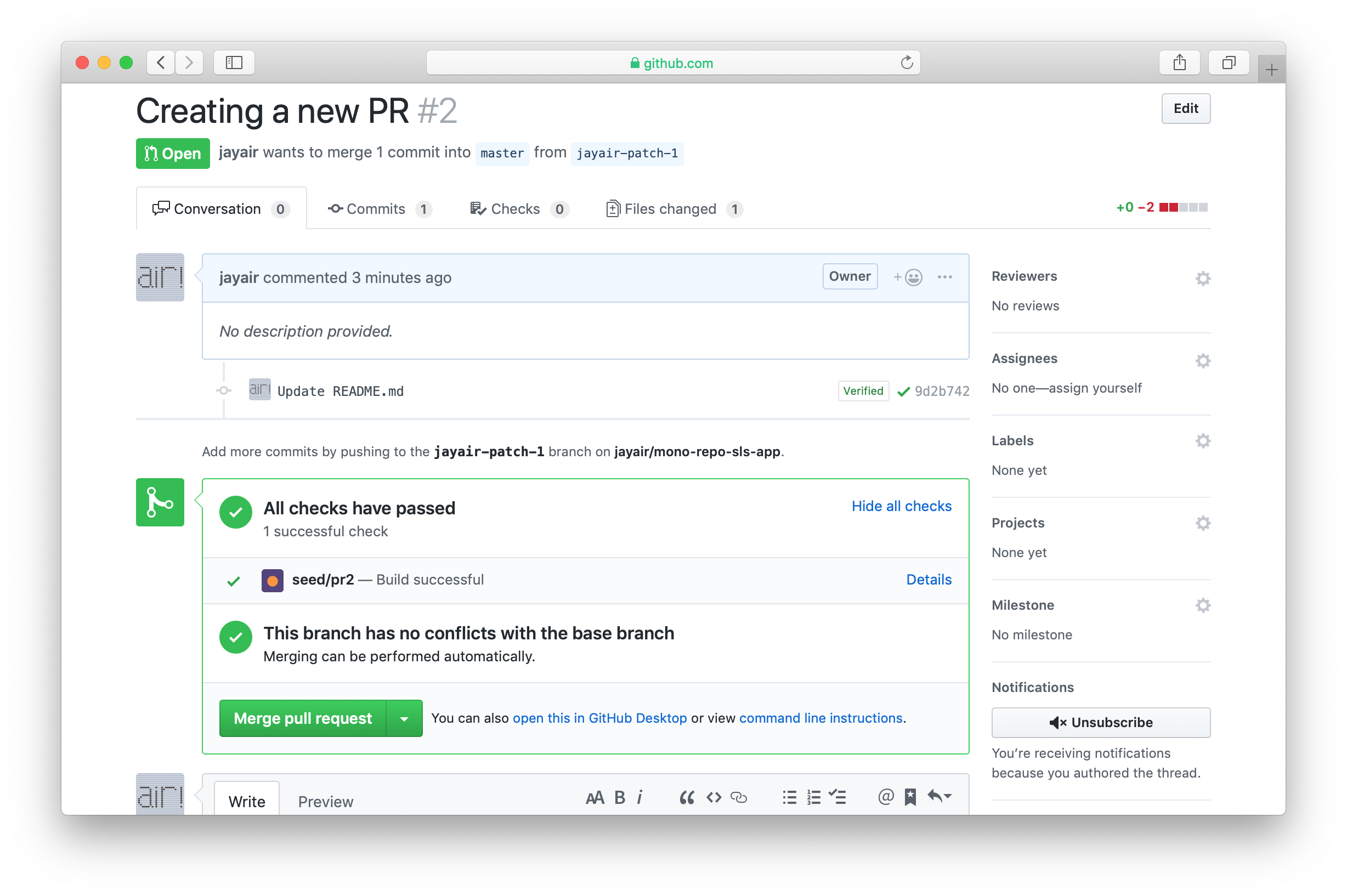 Seed PR building complete in GitHub