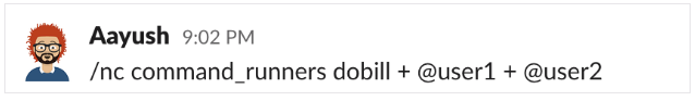 DigitalOcean bill in Slack command that lets you select slack users who can run command