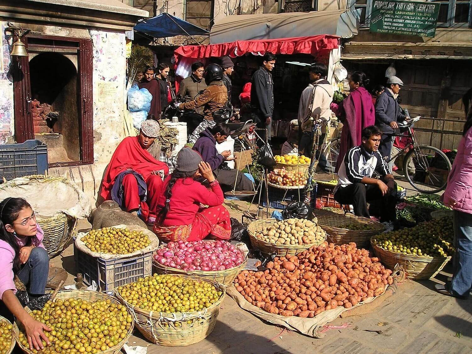 Thamel Market and small business sellers
