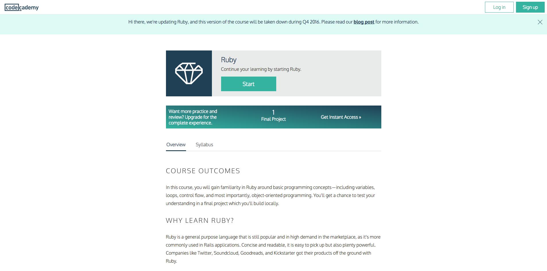 Code academy ruby