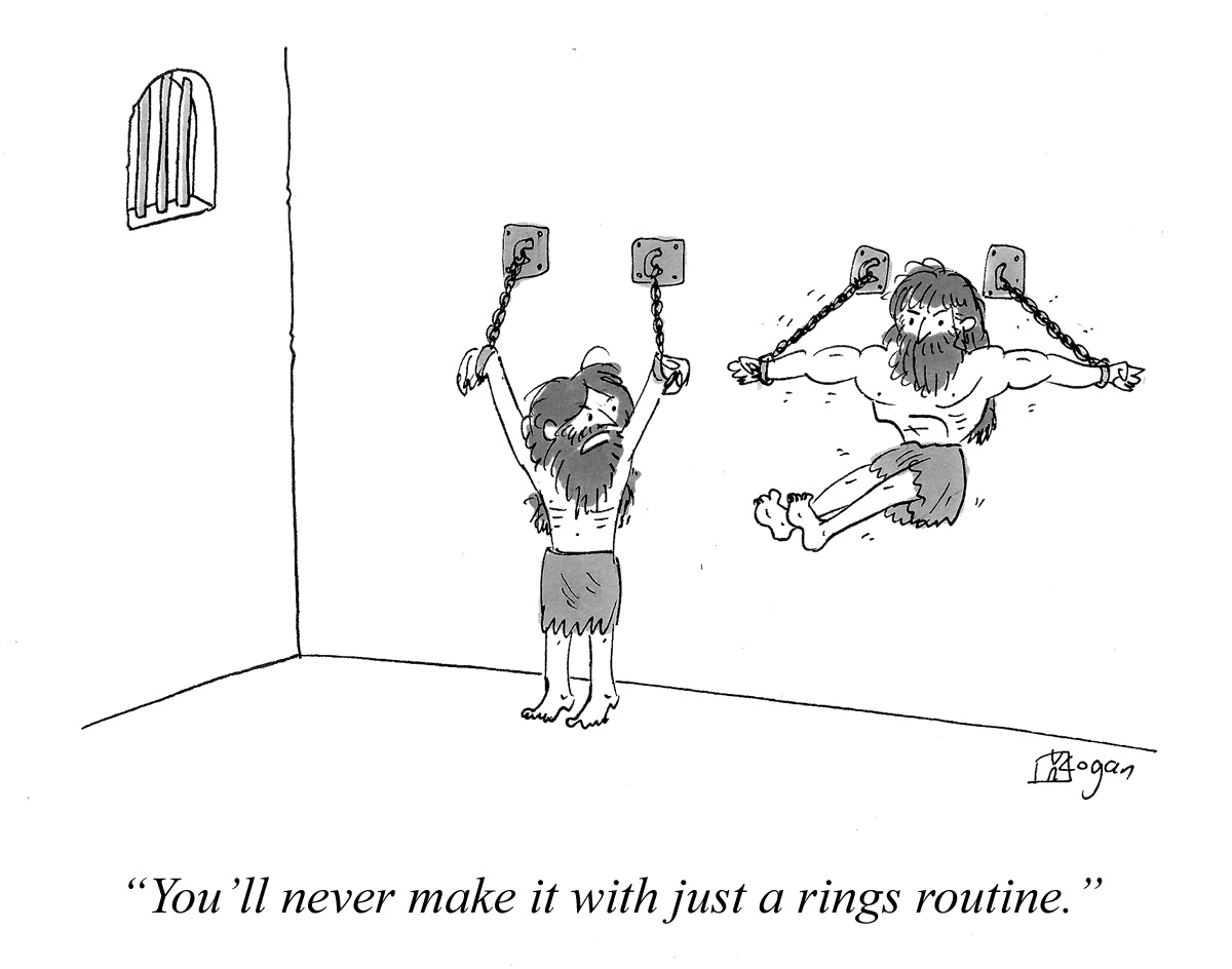 You'll never make it with just a rings routine.