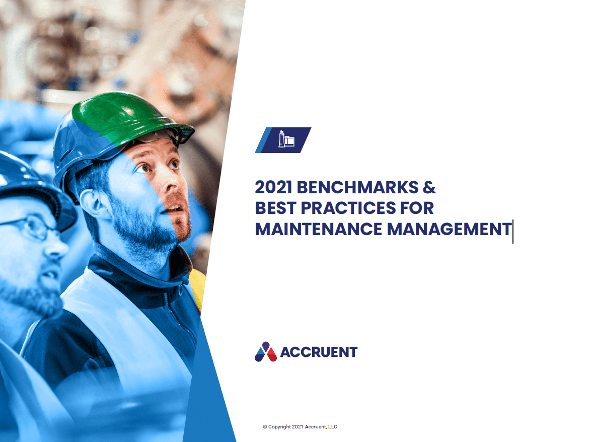 Accruent - Resources - eBooks - 2021 Benchmarks & Best Practices for Maintenance Management - Cover Image