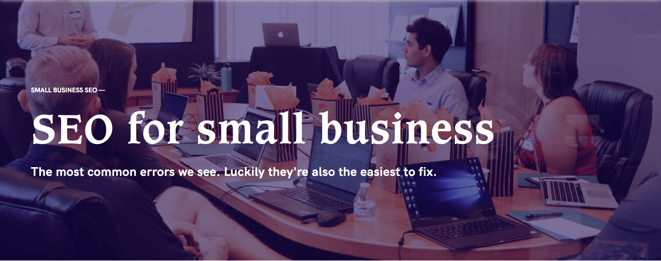 seo for small business header image