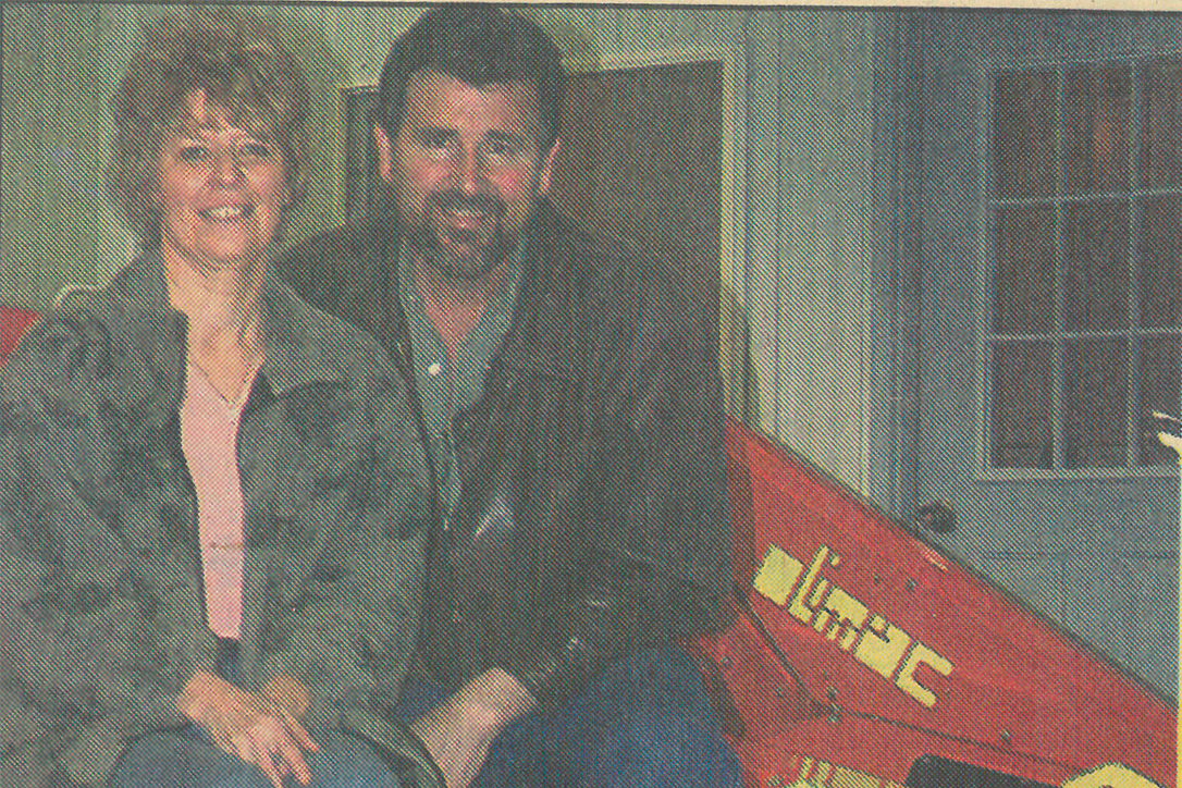 Pictured are Denny and Darlene posing in their first news article in the local paper.