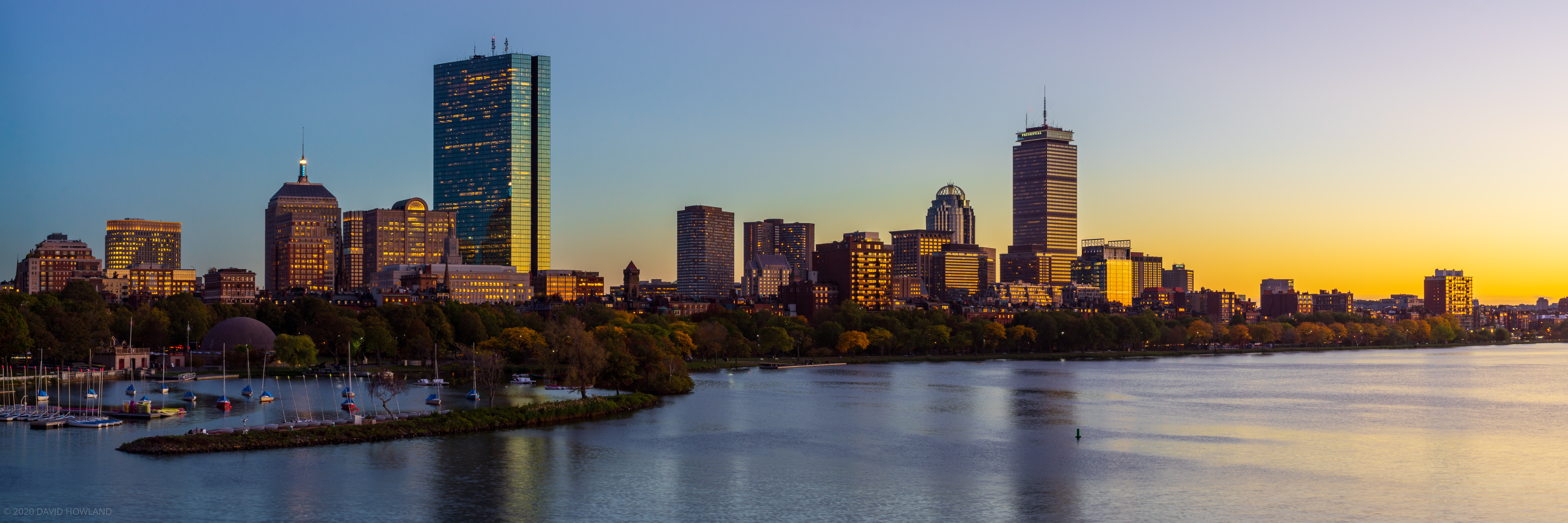 Back Bay Blue and Gold Sunset