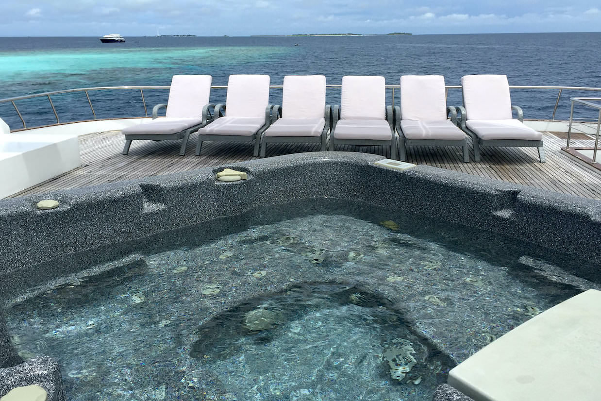 Honors Legacy luxury motor yacht surf charter for Maldives Atolls jacuzzi