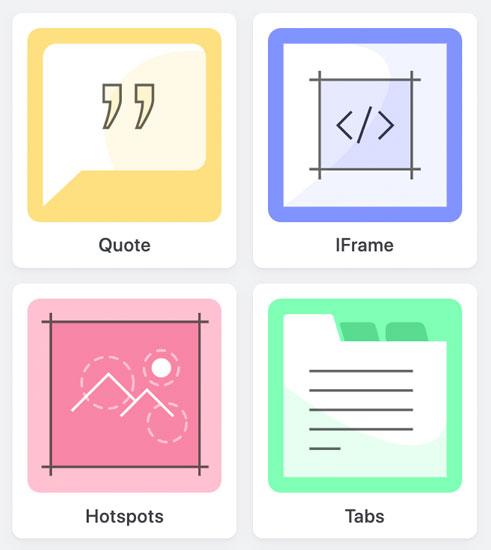 Illustratie interactieve elementen