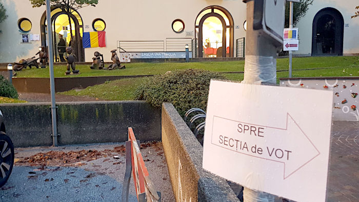 A polling station in Trentino