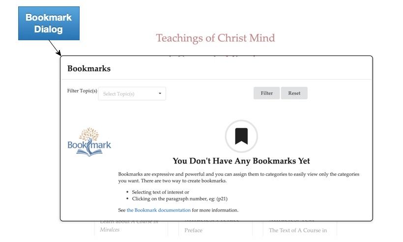 Landing Page Bookmarks