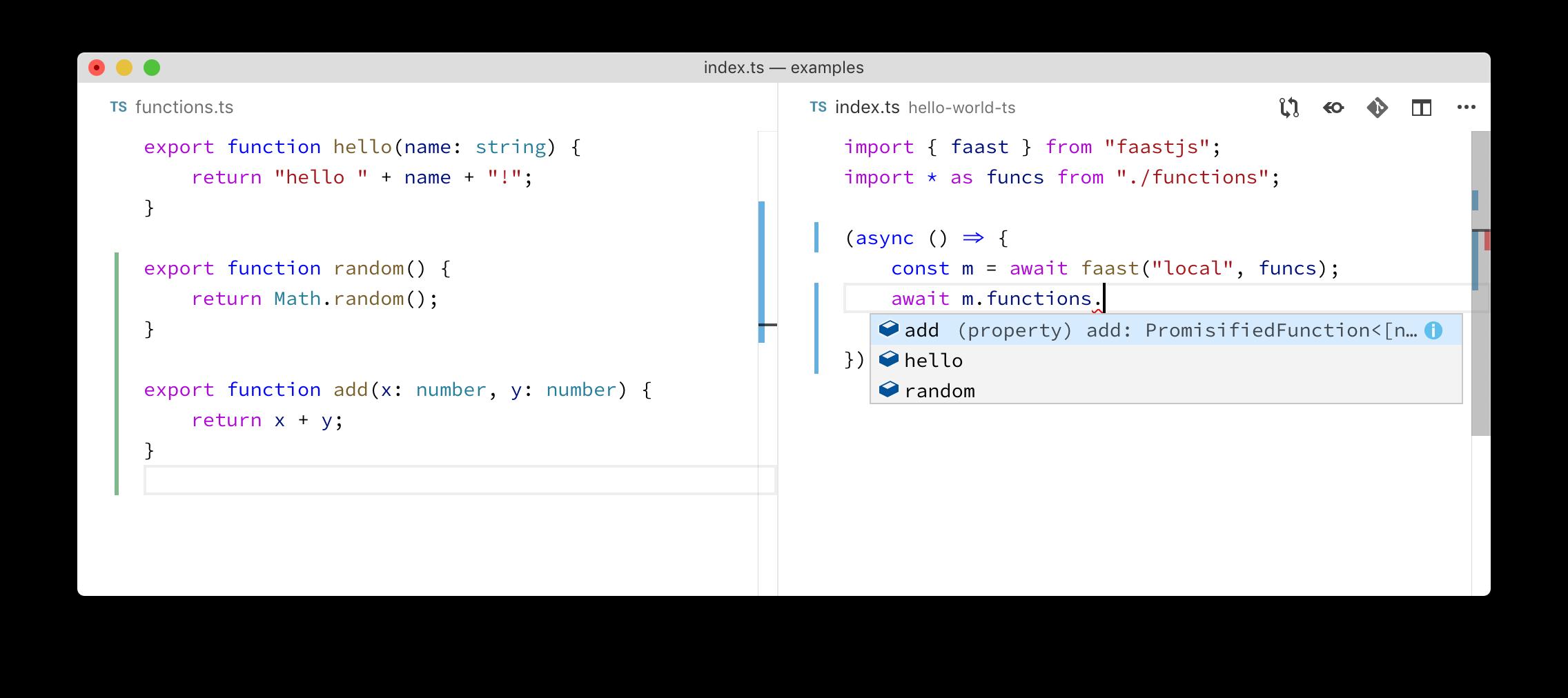 vscode example