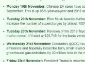 Thumbnail preview image for Mon 19th November - Sun 25th November: Weekly Green Car News