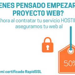 hosting web junto a certificado de seguridad