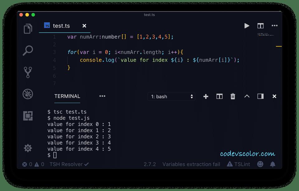 TypeScript for example2
