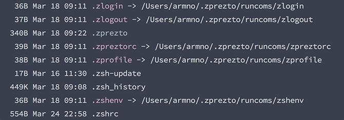 file ต่างๆ ของ Prezto
