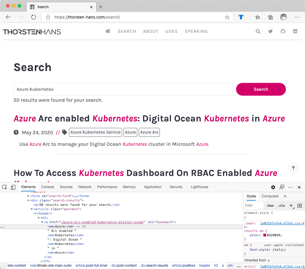 Azure Cognitive Search - Hit Highlighting