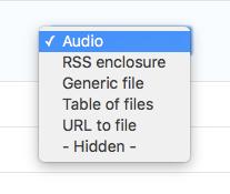 Choose audio formatter
