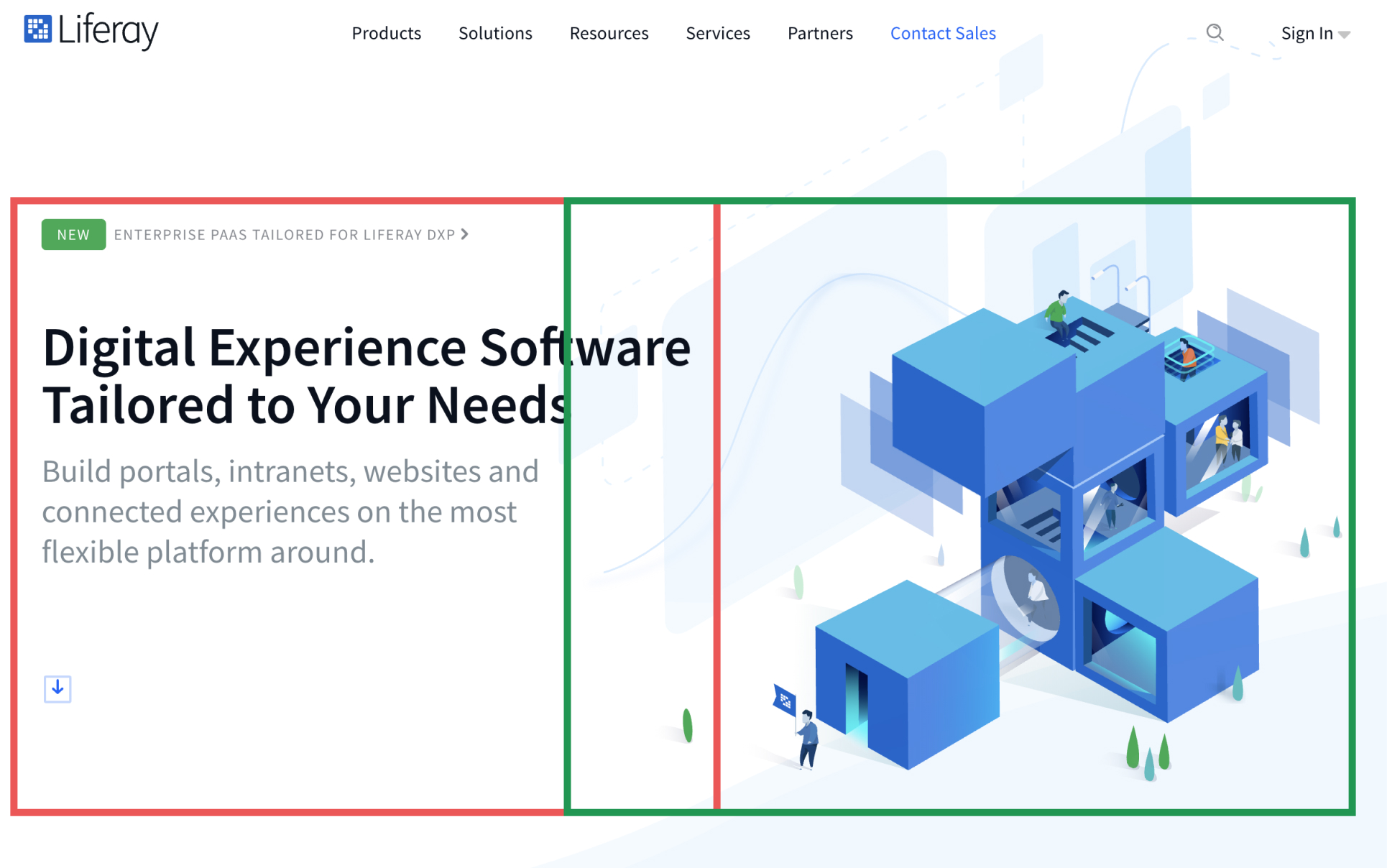 Liferay-website-layout
