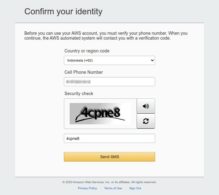 AWS Confirm Identity