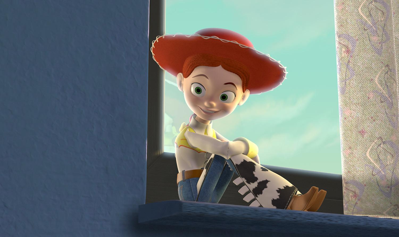 Jessie observa uma janela